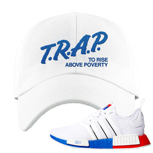 NMD R1 Seoul Dad Hat | White, Trap To Rise Above Poverty