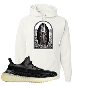 Yeezy Boost 350 v2 Carbon Hoodie | Virgin Mary, White