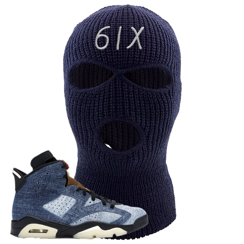Air Jordan 6 Washed Denim 6IX Navy Blue Sneaker Hook Up Ski Mask