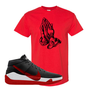 KD 13 Bred T-Shirt | Praying Hands, Red