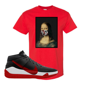 KD 13 Bred T-Shirt | Mona Lisa Mask, Red