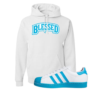 Adidas Superstar 'Aqua Toe' Hoodie | White, Blessed Arch