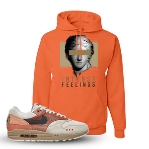 Air Max 1 Amsterdam City Pack Sneaker Retro Heather Coral Pullover Hoodie | Hoodie to match Nike Air Max 1 Amsterdam City Pack Shoes | Intense Feelings