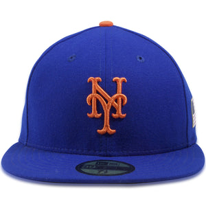 New York Mets 59Fifty Flag Patch Royal Blue Fitted Cap