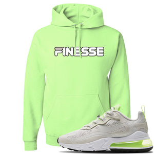 Air Max 270 React Ghost Green Sneaker Neon Green Pullover Hoodie | Hoodie to match Nike Air Max 270 React Ghost Green Shoes | Finesse