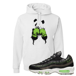 Air Max 95 Black / Electric Green Hoodie | Boxing Panda, White