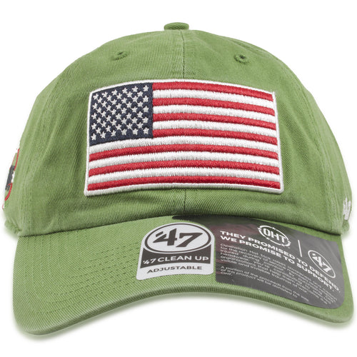 b1371616856 Operation Hat Trick Fatigue Green Adjustable Dad Hat