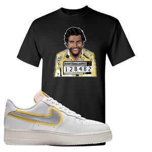 Air Force 1 Low 07 LX White Gold T Shirt | Escobar Illustration, Black