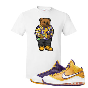 Lebron 7 'Media Day' T Shirt | White, Sweater Bear