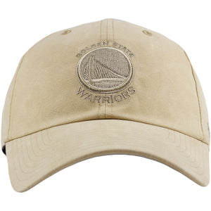 Golden State Warriors Ultrabasic Khaki Adjustable Baseball Cap