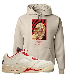 Air Jordan 5 Low Chinese New Year 2021 Hoodie | God Told Me, Sand