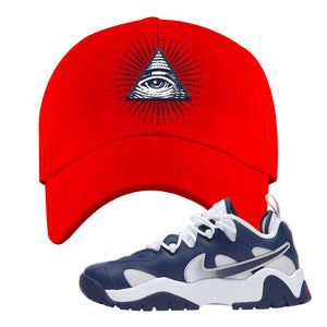Air Barrage Low USA Dad Hat | Red, All Seeing Eye
