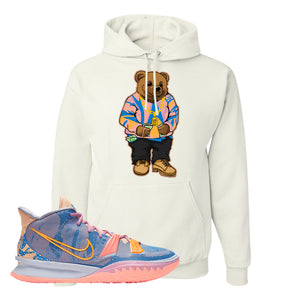 Kyrie 7 Expressions Hoodie | Sweater Bear, White