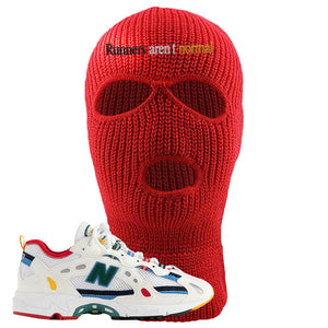Aime Leon Dore X New Balance 827 Abzorb Multicolor 'White' Ski Mask | Red, Runners Aren't Matter