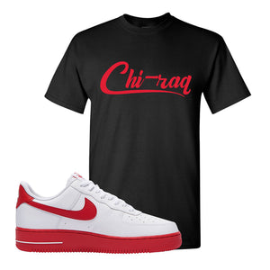 Air Force 1 Low Red Bottoms T Shirt | Black, Chiraq