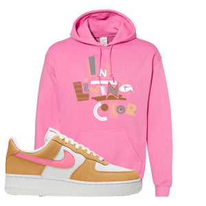Nike Air Force 1 Pink Orange Hoodie | In Living Color, Azalea
