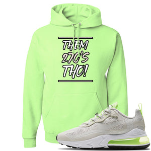 Air Max 270 React Ghost Green Sneaker Neon Green Pullover Hoodie | Hoodie to match Nike Air Max 270 React Ghost Green Shoes | Them 270 Tho