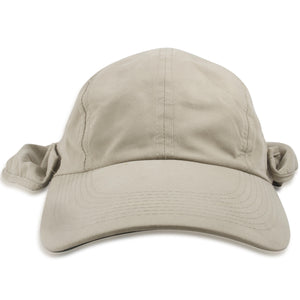 Dorfman Pacific Khaki Big Brim Fishing Hat with Removable Neck Flap