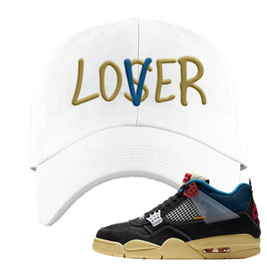 Union LA x Air Jordan 4 Off Noir Dad hat | Lover, White