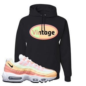 Air Max 95 WMNS Melon Tint Hoodie | Black, Vintage Oval