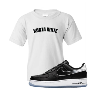 Colin Kaepernick X Air Force 1 Low Kunta Kinte White Sneaker Hook Up Kid's T-Shirt