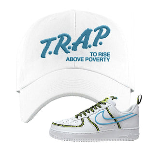 Air Force 1 '07 PRM 'Worldwide Pack' Dad Hat | White, Trap To Rise Above Poverty