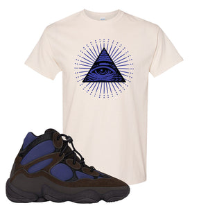 Yeezy 500 High Tyrian T Shirt | Natural, All Seeing Eye