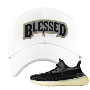 Yeezy Boost 350 v2 Carbon Dad Hat | Blessed Arch, White