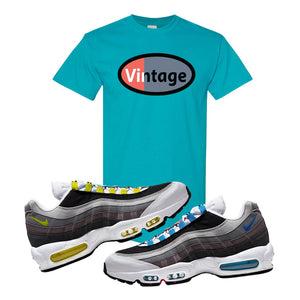 Air Max 95 QS Greedy T Shirt | Tropical Blue, Vintage Oval