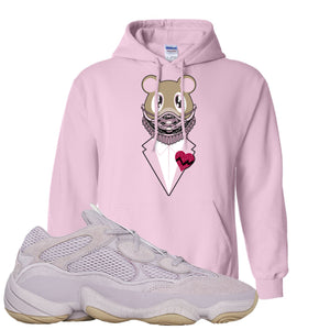Yeezy 500 Soft Vision Bear Sneaker Mask Classic Pink Sneaker Hook Up Pullover Hoodie