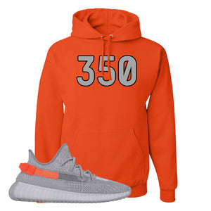 Yeezy Boost 350 V2 Tail Light Sneaker Burnt Orange Pullover Hoodie | Hoodie to match Adidas Yeezy Boost 350 V2 Tail Light Shoes | 350