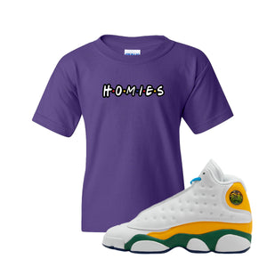 Homies Purple Kid's T-Shirt to match Air Jordan 13 GS Playground Kids Sneakers