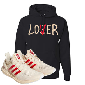 Adidas Ultra Boost 1.0 Indiana Pullover Hoodie | Lover, Black