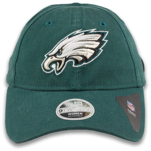 Women's Philadelphia Eagles Classic Team Logo Adjustable Midnight Green 9Twenty New Era Dad Hat