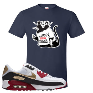 Air Max 90 Chinese New Year T Shirt | Navy Blue, Happy New Year Rat