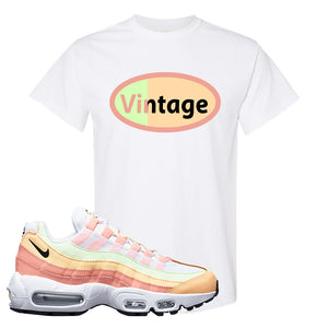 Air Max 95 WMNS Melon Tint T Shirt | White, Vintage Oval
