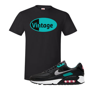 Air Max 90 Black New Green T Shirt | Vintage Oval, Black
