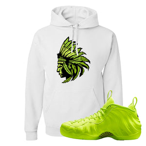 Air Foamposite Pro Volt Hoodie | Indian Chief, White