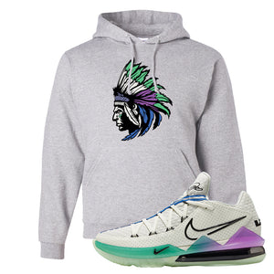 LeBron 17 Low Glow In The Dark Hoodie | Ash, Indian Chief
