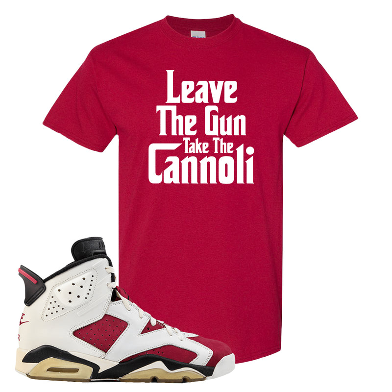 Jordan Jordan 6 Carmine Sneaker Cardinal T Shirt | Tees to match Nike Air Jordan 6 Carmine Shoes | Leave The Gun