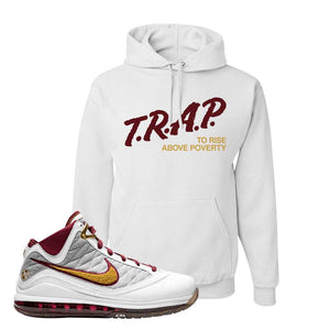 LeBron 7 MVP Hoodie | White, Trap To Rise Above Poverty