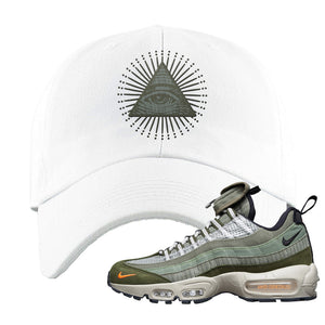 Air Max 95 Surplus Supply Dad Hat | All Seeing Eye, White
