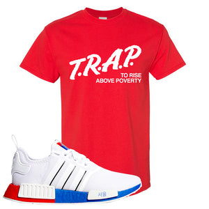 NMD R1 Seoul T Shirt | Red, Trap To Rise Above Poverty