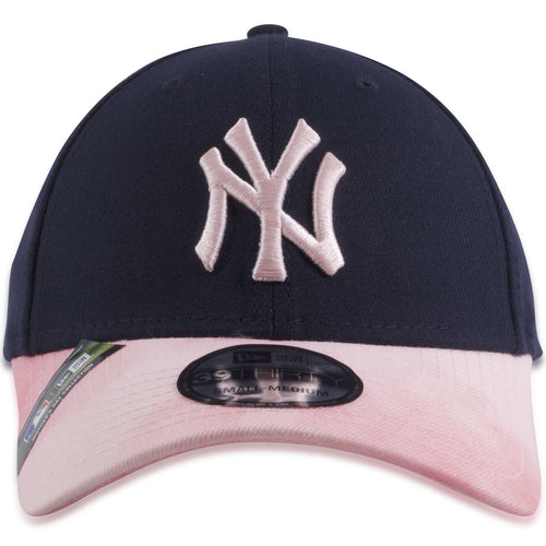 8ff83e8e1ee68e New York Yankees 2019 Mother's Day Navy Blue on Pink 39Thirty Flexfit Cap