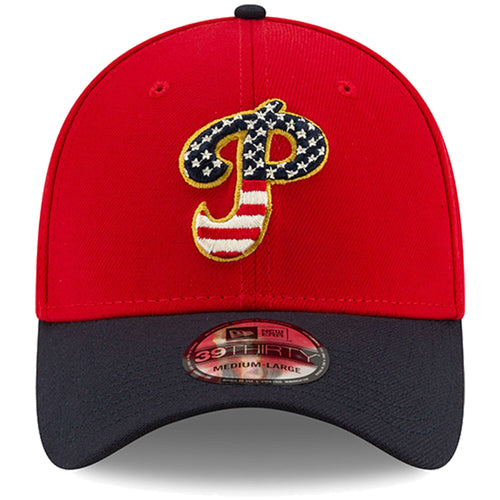 Philadelphia Phillies Stars and Stripes 2019 Fourth Of July On Field 39THIRTY Flexfit Cap