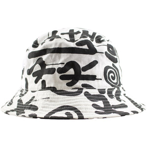 Staple Abstract Pigeon Claw White and Black Bucket Hat