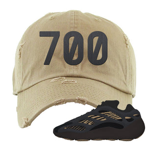 Yeezy 700 v3 Eremial Distressed Dad Hat | 700, Khaki