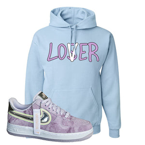 Air Force 1 P[her]spective Hoodie | Light Blue, Lover
