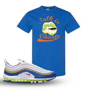 Air Max 97 'Easter' Sneaker Royal T Shirt | Tees to match Nike Air Max 97 'Easter'Shoes | Talk is Cheap