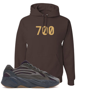 "Yeezy Boost 700 Geode Sneaker Hook Up ""700"" Brown Hoodie"